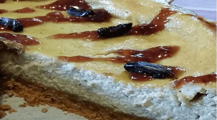 Torta Cheesecake con farina di Grilli di Masterbug: Dolci con insetti commestibili